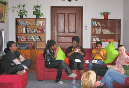 The TV room has a relaxed atmosphere which the Students enjoy