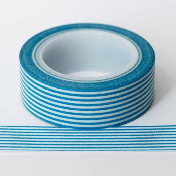 bright-blue-stripe-washi-tape