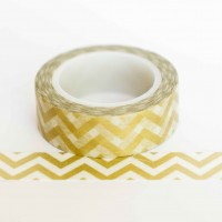 gold-chevron-washi-tape