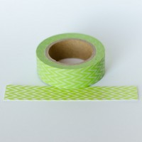 green-chevron-washi-tape