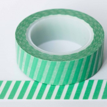 green-diagonal-stripe-washi-tape