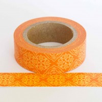 orange-pattern-washi-tape