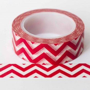 red-chevron-washi-tape