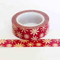 red-daisy-washi-tape