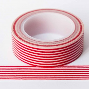 red-stripe-washi-tape