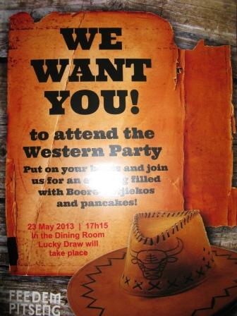 Students are invited to a western party!