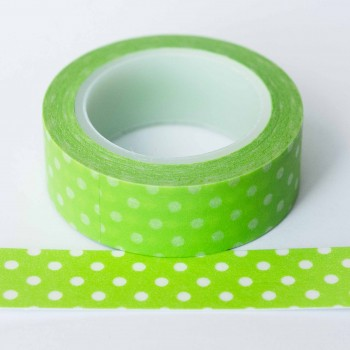 lime-green-and-white-polkadots-washi-tape
