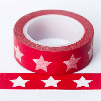 red-star-washi-tape